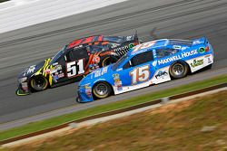 Justin Allgaier, HScott Motorsports Chevrolet and Clint Bowyer, Michael Waltrip Racing Toyota