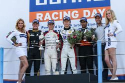 Race two winner: Louis Deletraz, Josef Kaufmann Racing, second place Callan O'Keeffe, Fortec Motorsp