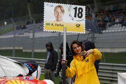 Chica de la parrilla de Augusto Farfus, BMW Team RBM BMW M4 DTM