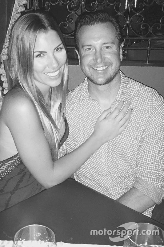 Kurt Busch with Ashley Van Metre