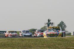 Mauricio Lambiris, Coiro Dole Racing Torino y Mariano Werner, Werner Competicion Ford y Gabriel Ponc
