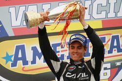Race winner Eddie Cheever III