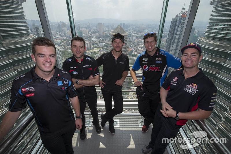 Scott McLaughlin, Garry Rogers Motorsport and Todd Kelly, Nissan Motorsports and Will Davison, Erebu