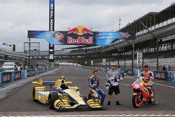 Marco Andretti, Andretti Autosport Honda, Dani Pedrosa, Repsol Honda Team en Nicky Hayden