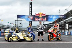 Marco Andretti, Andretti Autosport Honda y Dani Pedrosa, Repsol Honda Team y Nicky Hayden