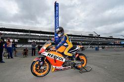 Marco Andretti, Andretti Autosport Honda en la moto de Dani Pedrosa