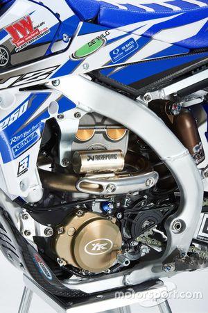 Dettaglio della Yamaha YZ250F, Kemea Yamaha Yamalube
