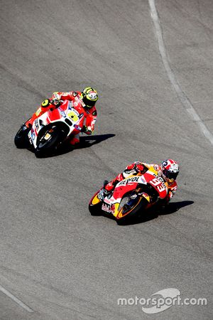 Marc Marquez, Repsol Honda Team and Andrea Iannone, Ducati Team