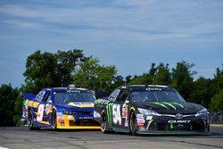Boris Said, Joe Gibbs Racing Toyota and Chase Elliott, JR Motorsports Chevrolet