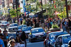 Les voitures au centre-ville de Trois-Rivières