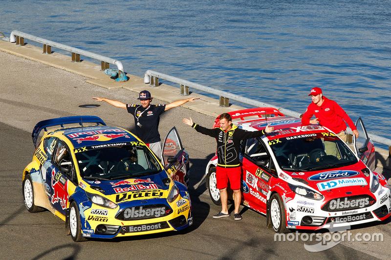 Timur Timerzyanov, Olsbergs MSE Ford Fiesta ST and Andreas Bakkerud ...