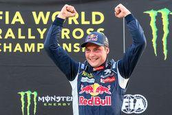 Podium: winner Davy Jeanney, Team Peugeot Hansen