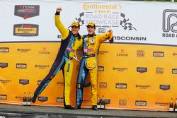 Podium: race winners Matt Plumb, Hugh Plumb