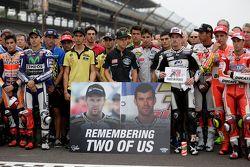 Les pilotes rendent hommage à Bernat Martinez et Daniel Rivas, décédés sur la manche MotoAmerica de Laguna Seca