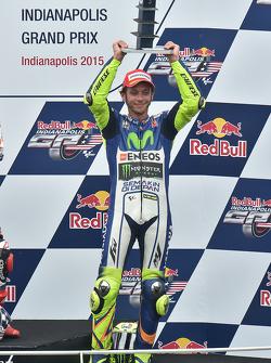 Podio: terzo Valentino Rossi, Yamaha Factory Racing