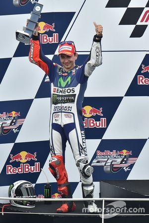 Podium : le deuxième Jorge Lorenzo, Yamaha Factory Racing