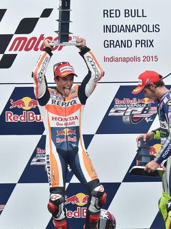 Podio: vincitore Marc Marquez, Repsol Honda Team