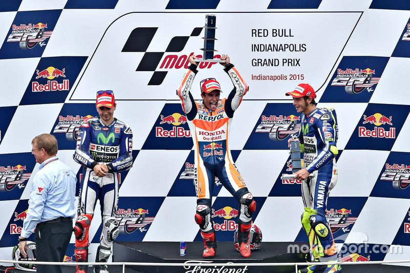 #22 Podium : Marc Márquez, Jorge Lorenzo, Valentino Rossi
