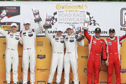 GTLM podium: winners #911 Porsche Team North America Porsche 911 RSR: Nick Tandy, Patrick Pilet, sec