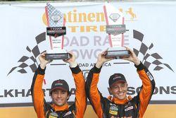 PC podium: winners #11 RSR Racing Oreca FLM09 Chevrolet: Chris Cumming, Bruno Junqueira