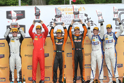 PC podium: winners #11 RSR Racing Oreca FLM09 Chevrolet: Chris Cumming, Bruno Junqueira, second plac