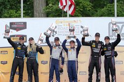 GTC podium: winners #33 Riley Motorsports SRT Viper GT3-R: Ben Keating, Jeroen Bleekemolen, second p