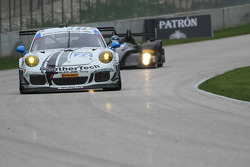 #22 Alex Job Racing Porsche 911 GT America: Cooper MacNeil with the lovely WeatherTech girls