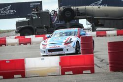 Gymkhana action at the Nissan GT Academy finals