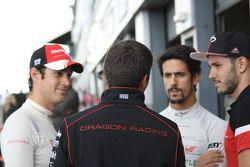Bruno Senna, Mahindra Racing and Lucas di Grassi and Daniel Abt, ABT Schaeffler Audi Sport