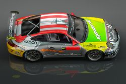 Romain Dumas special livery for Rally Germany featuring the colors of Porsches that have shaped his