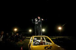 Elliott Schutte and Matthew Simmons win the Stock Car race