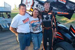 Kevin Ward Sr. con la moglie Pamela e il figlio Kevin Ward Jr.