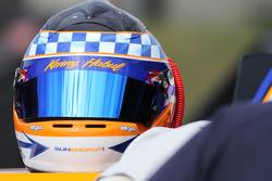 Helmet of Kenny Habul, Joe Gibbs Racing Toyota