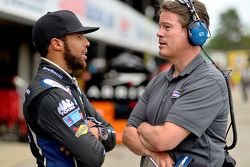 Darrell Wallace Jr., Roush Fenway Racing Ford with NBC reporter Dave Burns