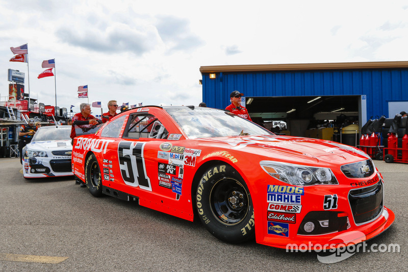 Justin Allgaier, HScott Motorsports Chevrolet goes through tech inspection