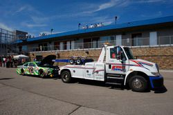 crashed mobil dari Kyle Busch, Joe Gibbs Racing Toyota