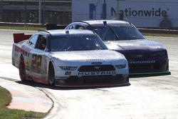 Alex Tagliani, Team Penske Ford and Regan Smith, JR Motorsports Chevrolet