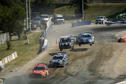Steve Arpin, Chip Ganassi Racing Ford and Ken Block, Hoonigan Racing Division Ford and Austin Dyne,