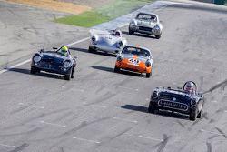 Les Alexander, 1957 Chevrolet Corvette, David Hogg, 1956 Porsche 356A Speedster, Ranson Webster, 1961 Porsche Abarth Carerra y Mike Sullivan 1960 Porsche 356