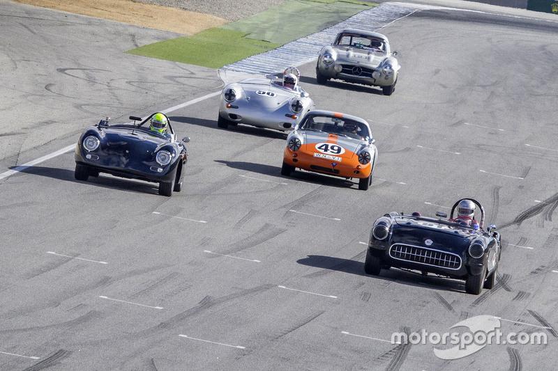 Les Alexander, 1957 Chevrolet Corvette, David Hogg, 1956 Porsche 356A Speedster, Ranson Webster, 1961 Porsche Abarth Carerra and Mike Sullivan 1960 Porsche 357