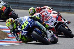 Valentino Rossi, Yamaha Factory Racing en Andrea Dovizioso, Ducati Team