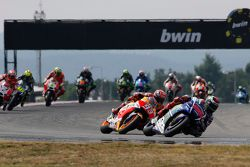 Jorge Lorenzo, Yamaha Factory Racing, et Marc Marquez, Repsol Honda Team
