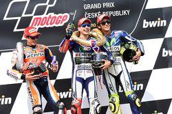 Kazanan: Jorge Lorenzo, Yamaha Fabrika Takımı, ikinci Marc Marquez, Repsol Honda Takımı ve üçüncü Va