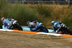 Enea Bastianini, Gresini Racing Team Moto3, Jorge Navarro, Estrella Galicia 0,0 y Romano Fenati, SKY
