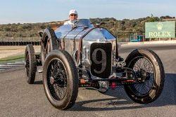 El ganador del Spirit of Monterey, Dick Deluna 9, 1917 Hall-Scott Four-A-7A