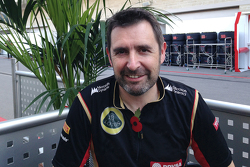Greg Baker, chef mécanicien Lotus F1