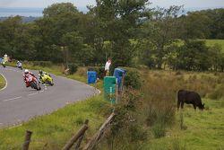 Çiftlik alanlarının yanında yarış heyecanı