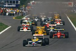 Start: Nigel Mansell, Williams leads