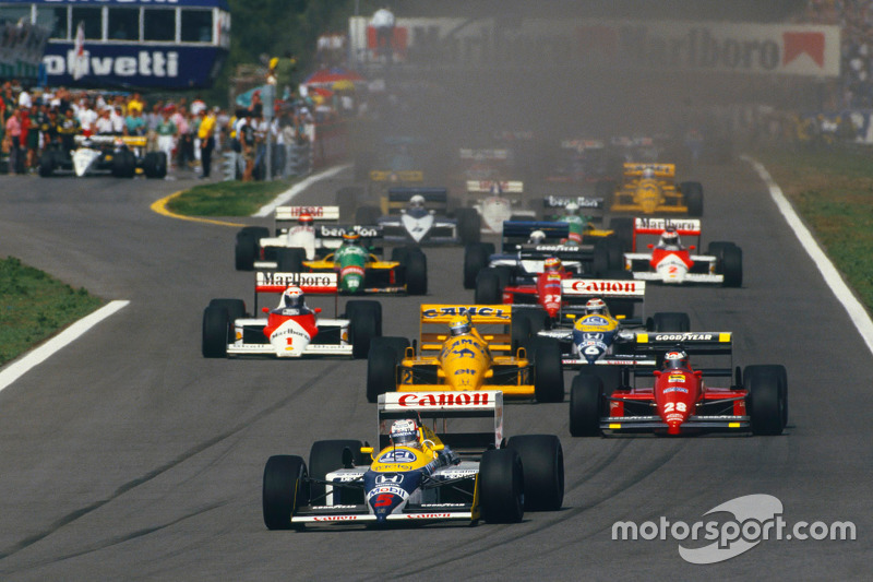 Start: Nigel Mansell, Williams memimpin
