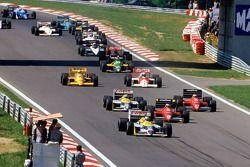 Start: Nigel Mansell, Williams leads